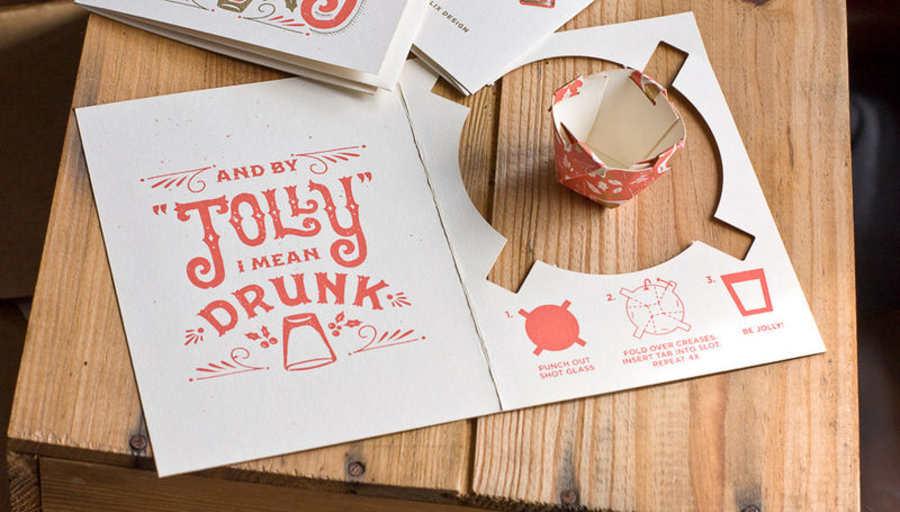 tarjeta de navidad para brindar
