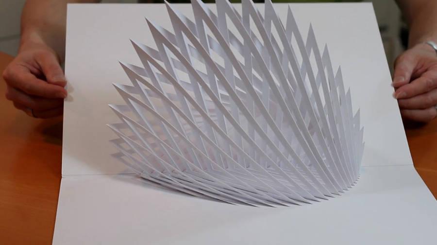 esculturas papel pop-up