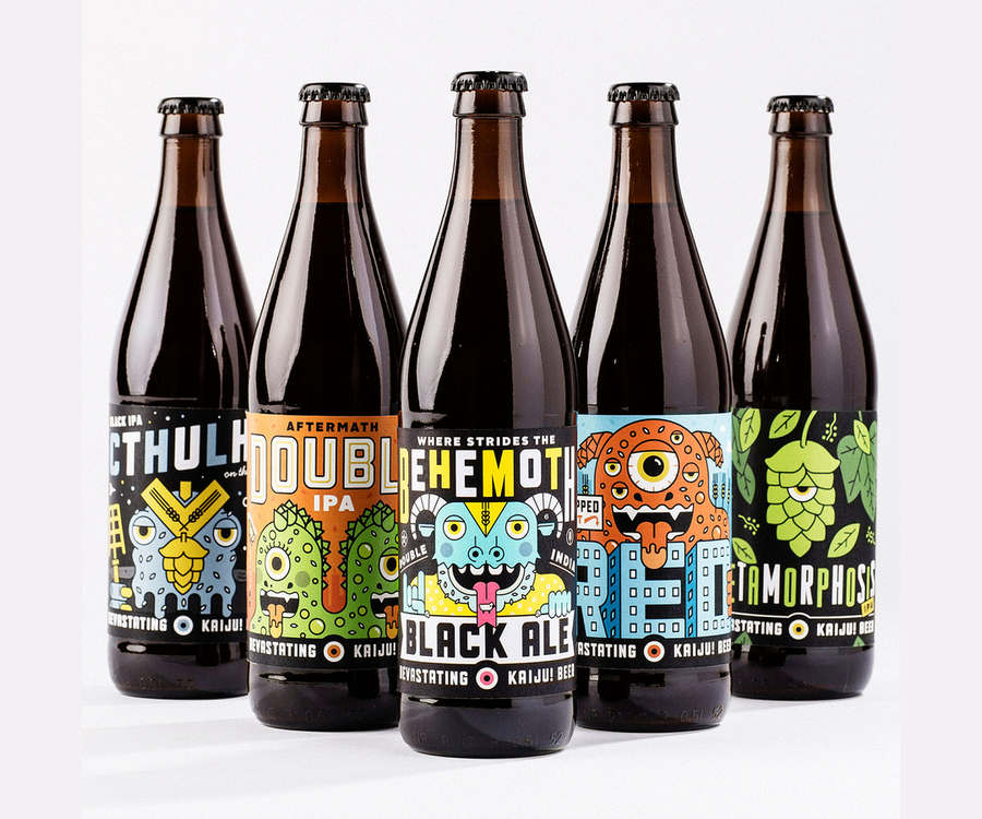 etiquetas botella de cerveza