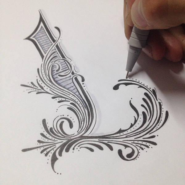 tipografía hecha a mano alzada