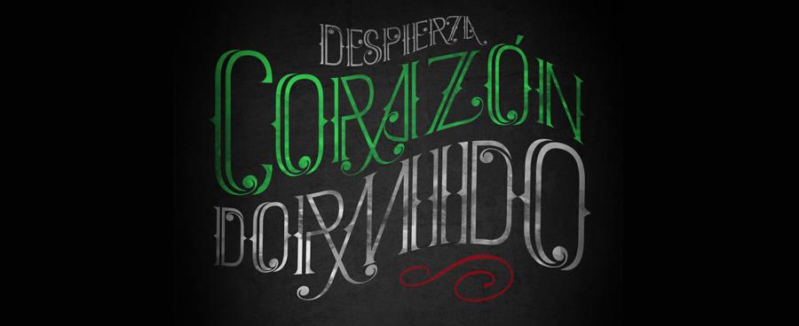tipografía inspirada en México