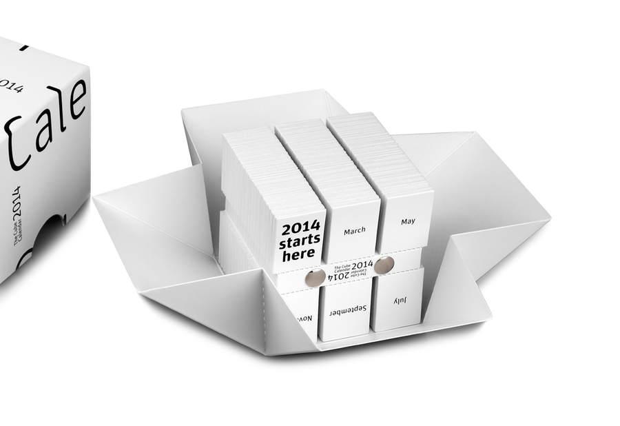 calendario 2015 con forma de cubo