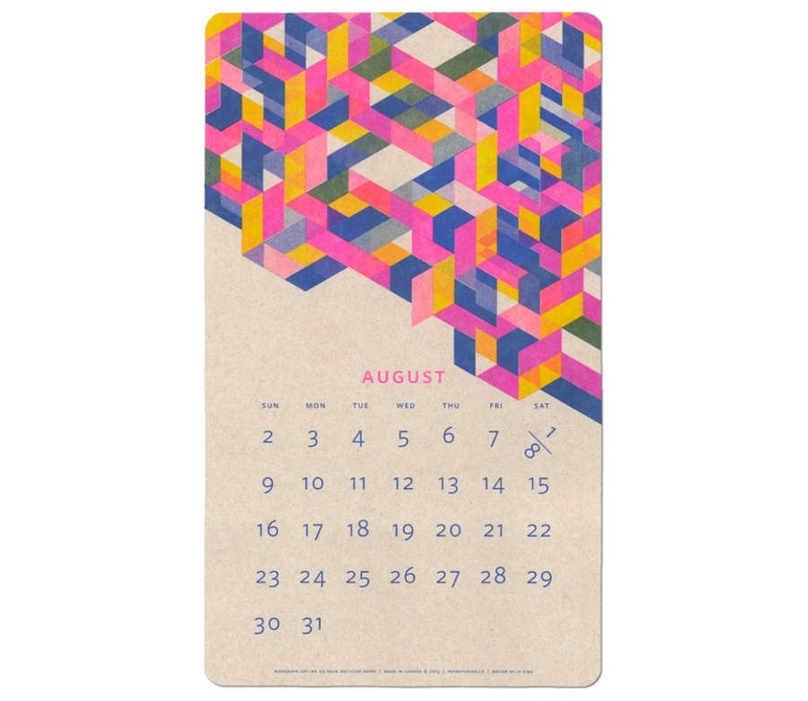 calendario isométrico 2015