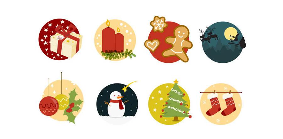 iconos navideños para descargar