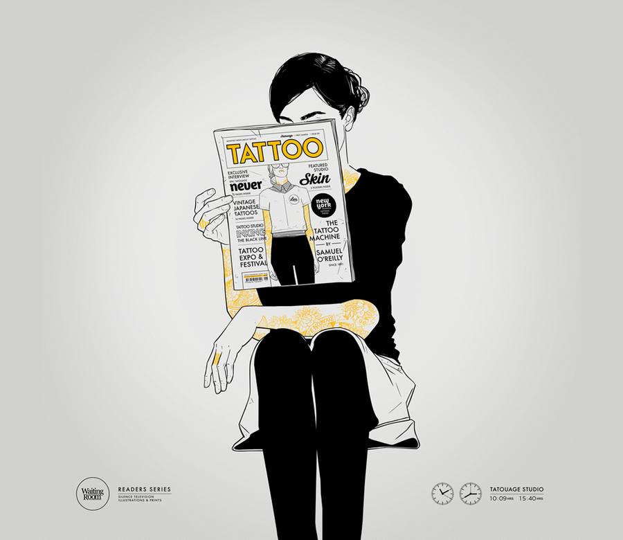 ilustraciones de silence television