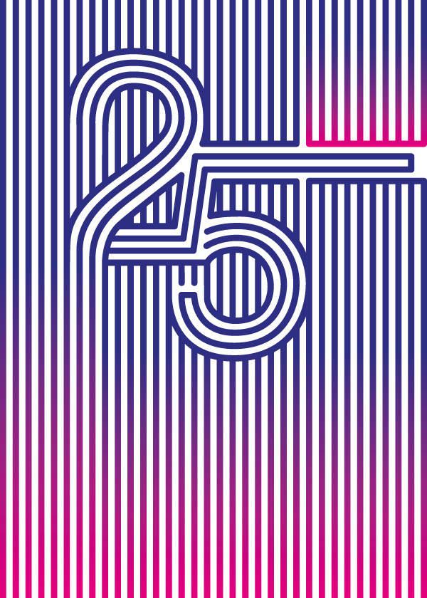 números y letras en perspectiva