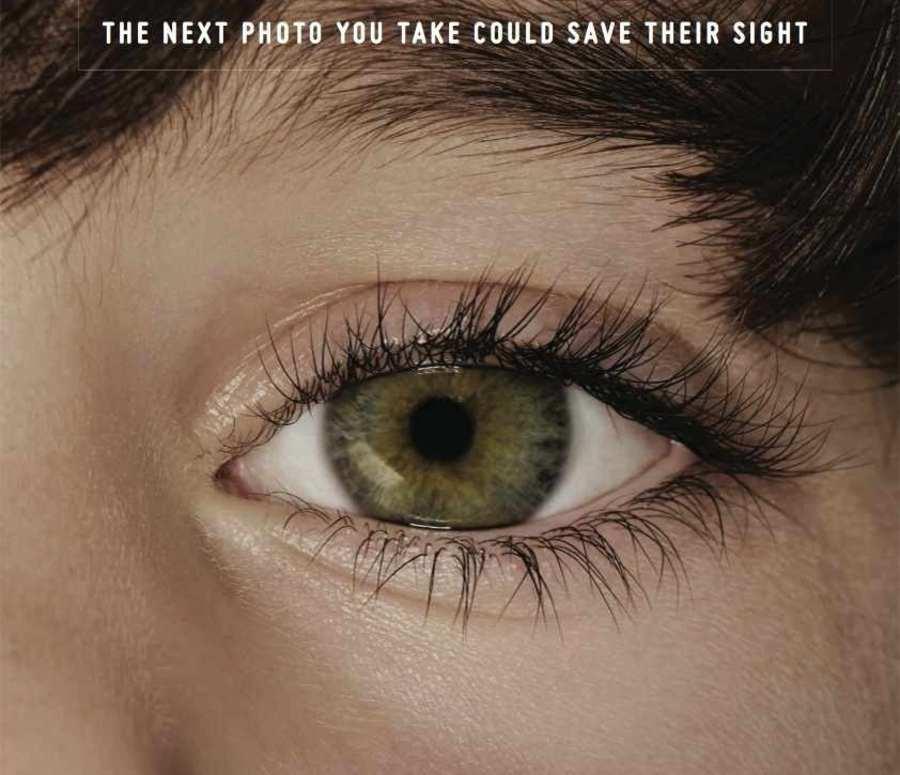 publicidad cáncer ojos de niños