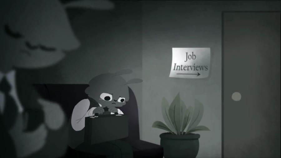Animación sobre nuevo trabajo
