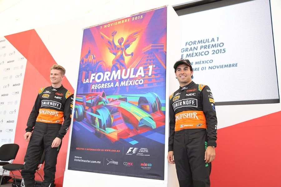 cartel gran premio México F1