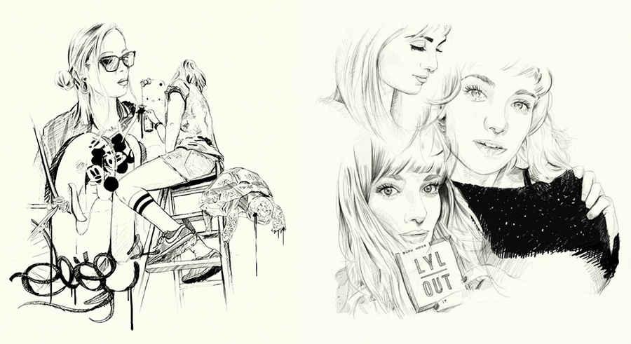 dibujos de musas