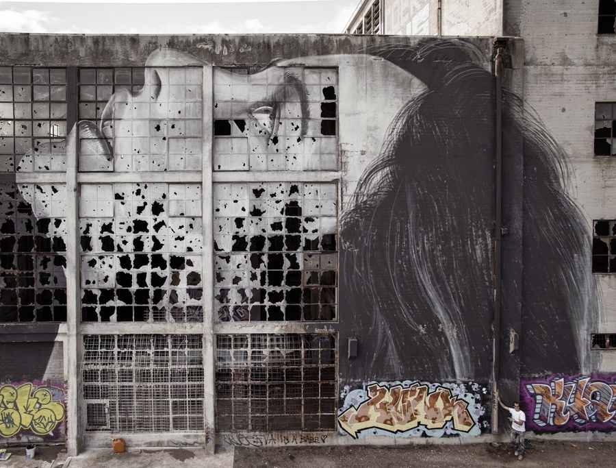 graffiti sobre vidrios