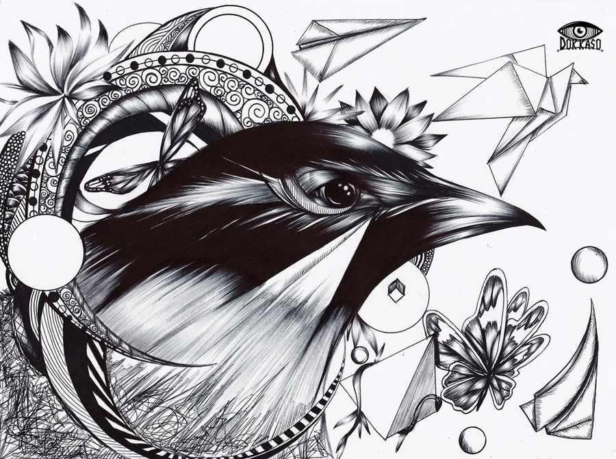 ilustraciones bolígrafo y tinta