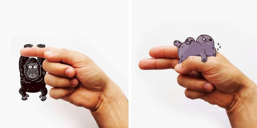 lengua de signos con ilustraciones