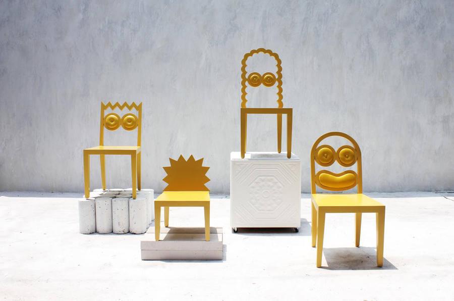 los Simpsons como muebles
