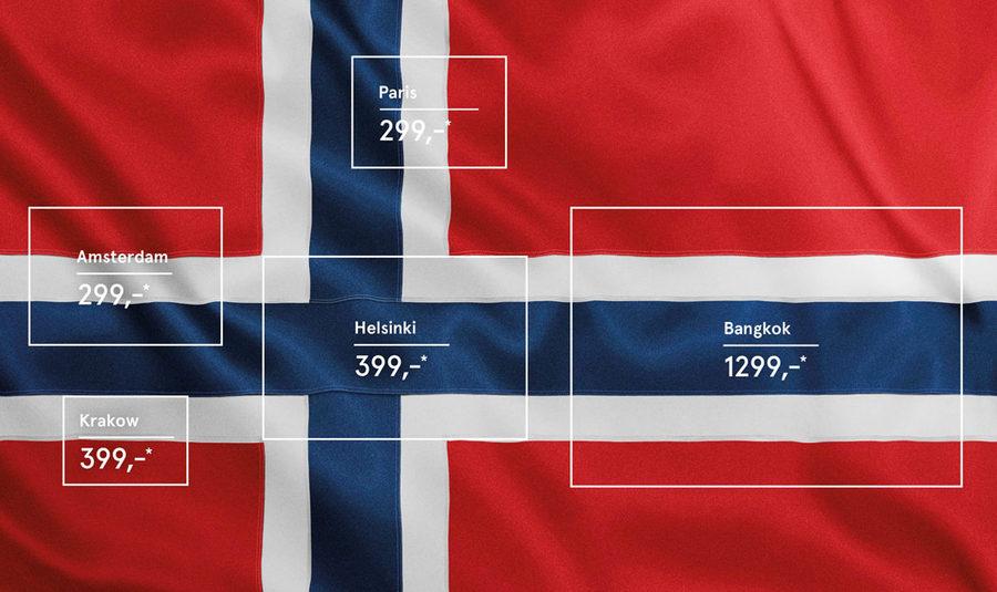 publicidad aerolínea Noruega