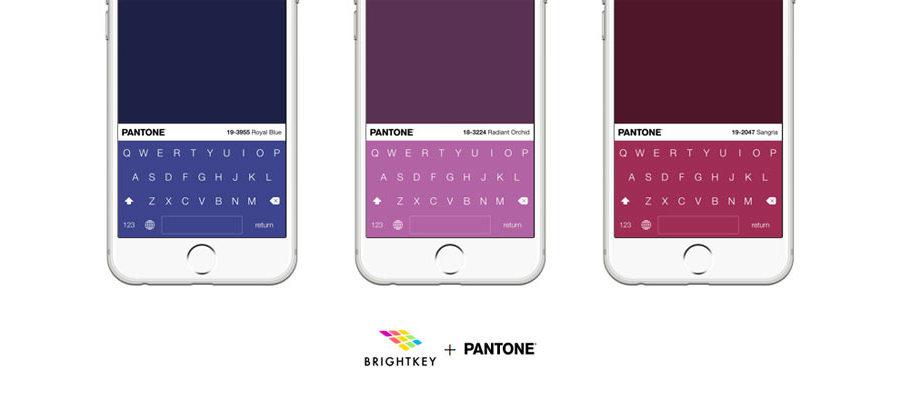teclados pantone para iphone