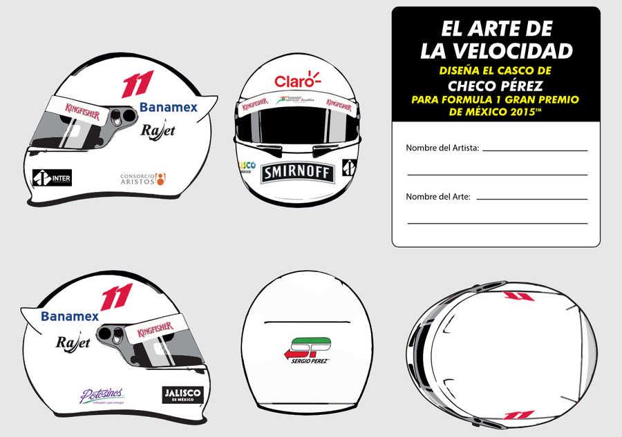 diseño del casco de Sergio Pérez
