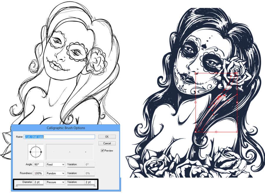 ilustración estilo tatuaje grunge
