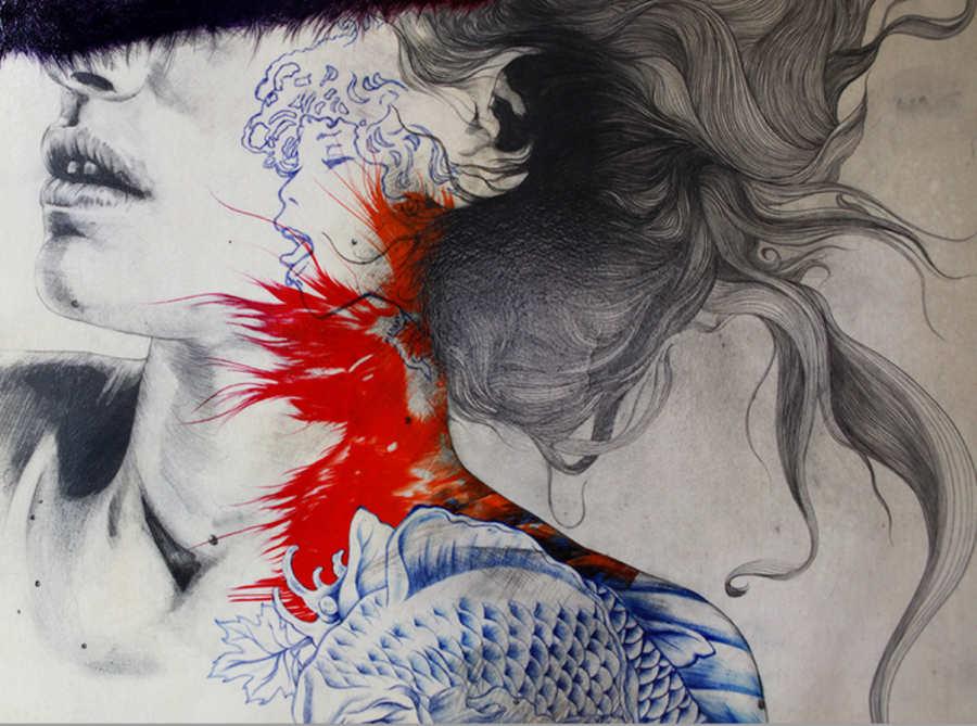ilustraciones de mujeres tatuadas