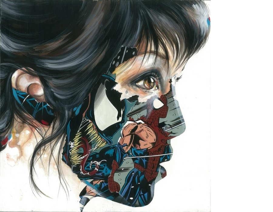 pinturas con páginas de comics