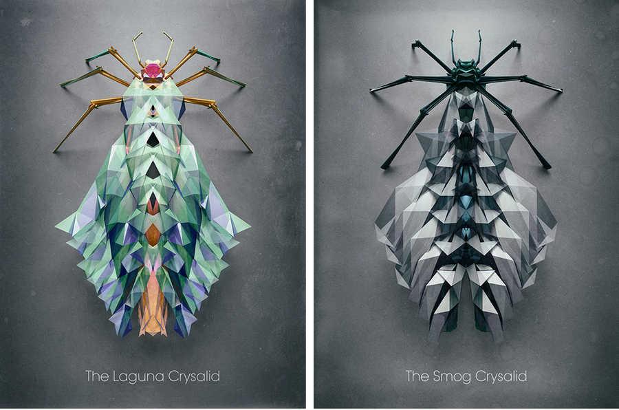 posters insectos imaginarios