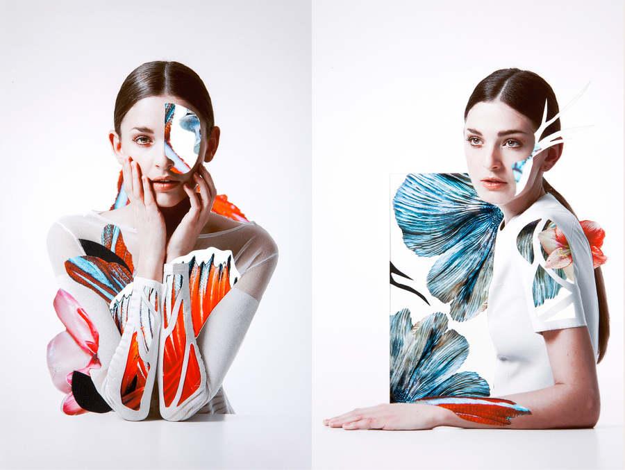 retrato experimental hechos con collage