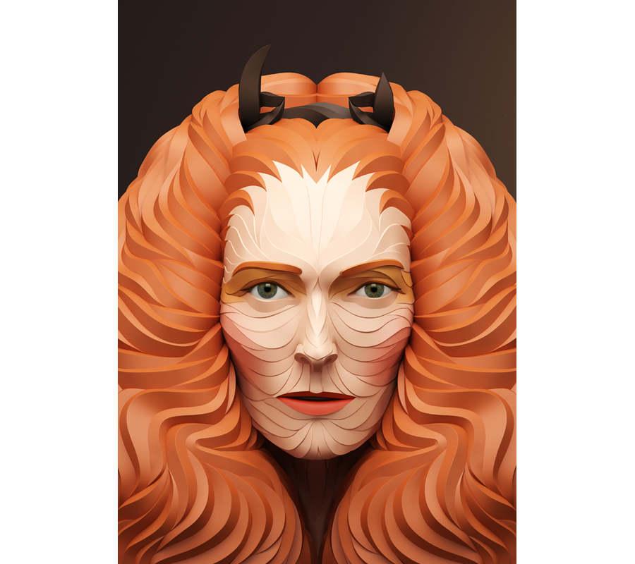 esculturas digitales rostros