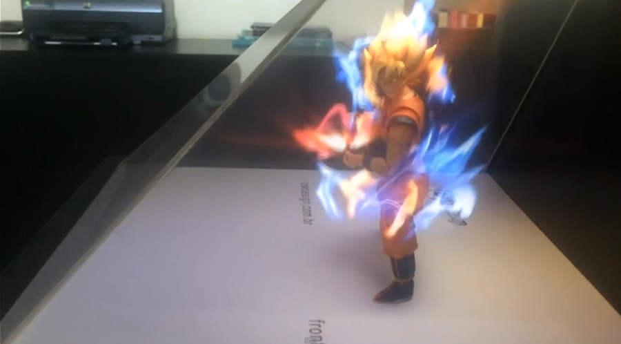 holograma de Goku