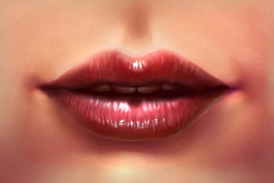 labios realistas con photoshop