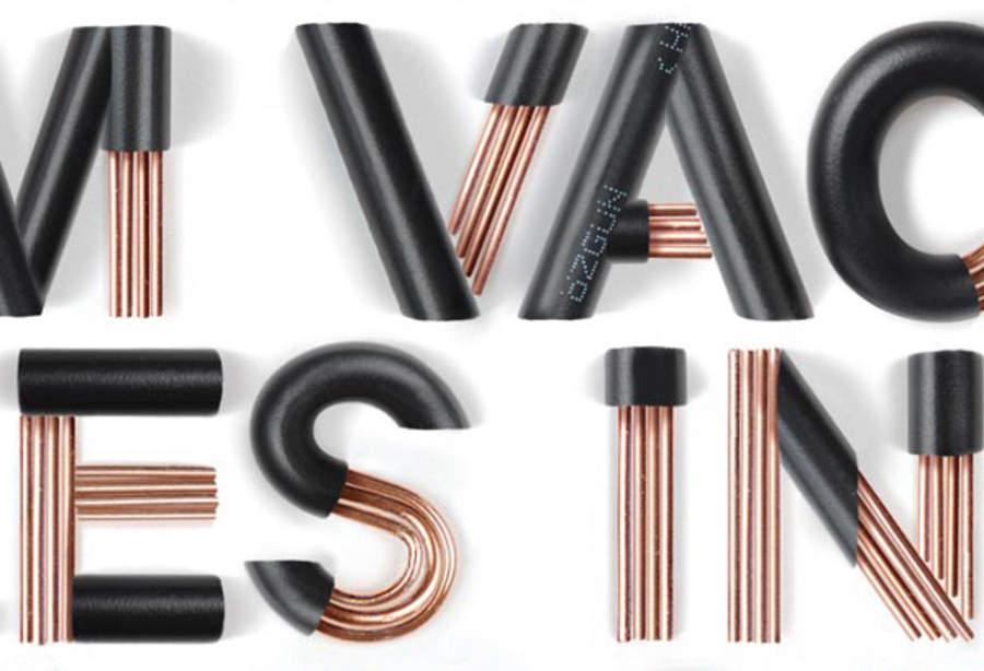 letras hechas con cables