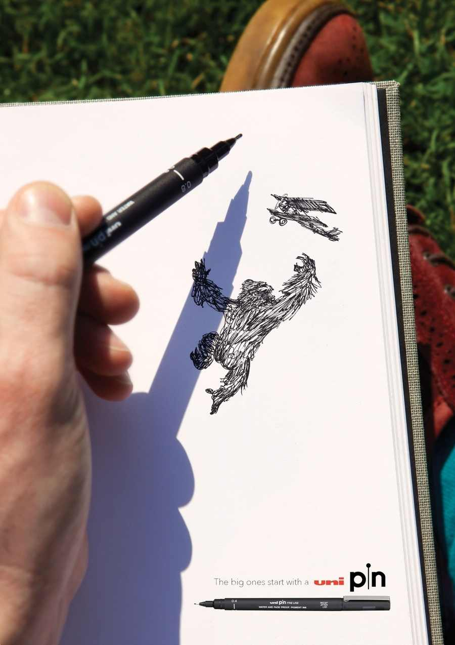 publicidad para plumas de dibujo