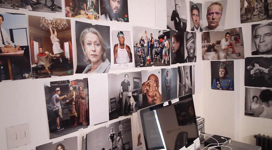 retratos de famosos