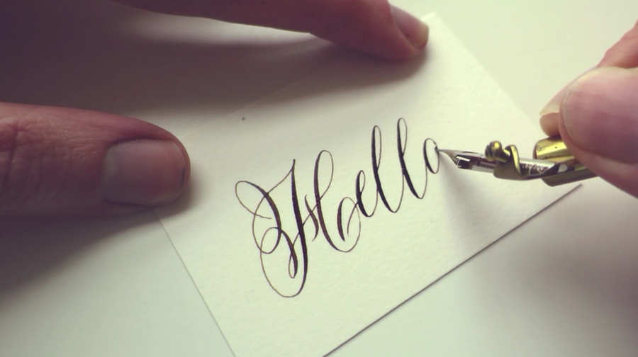 tarjetas de presentación caligrafía