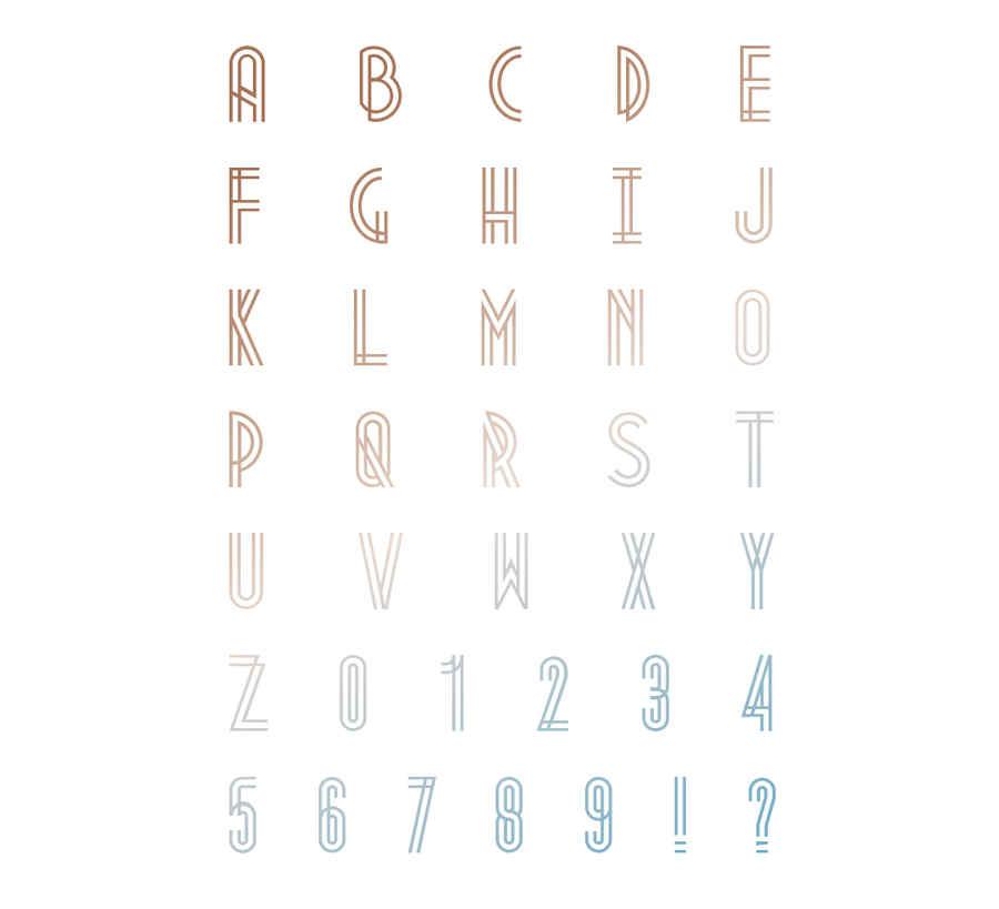 tipografía art deco gratis