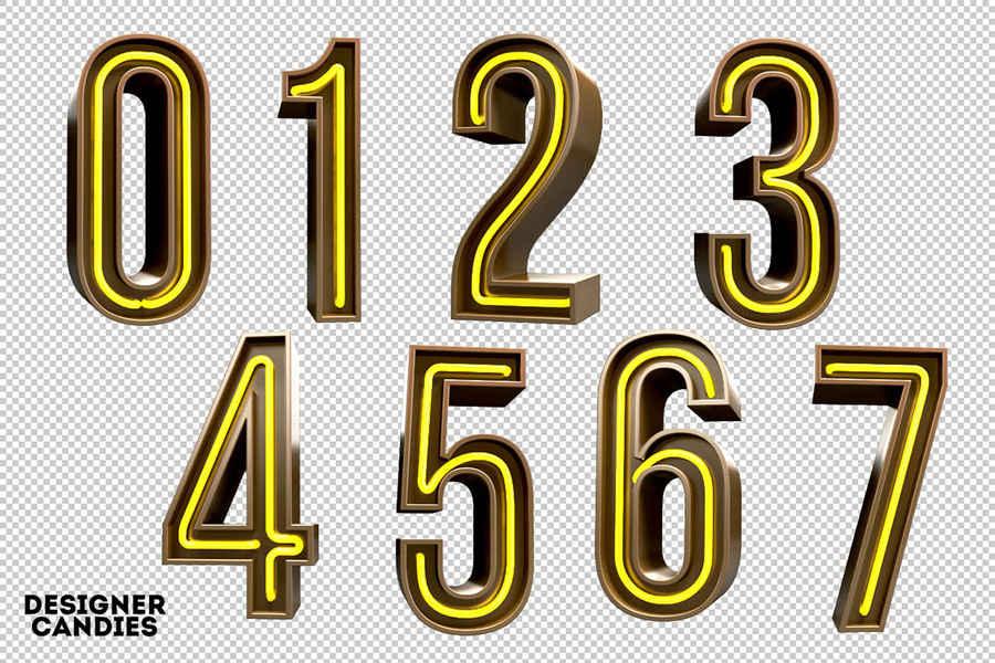 tipografía luz neón