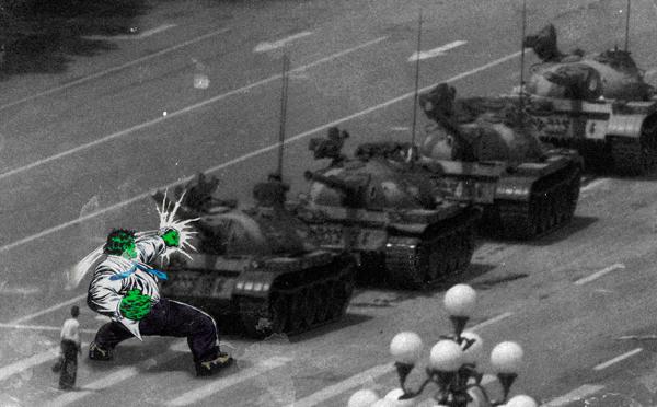 cómics en fotos de guerra