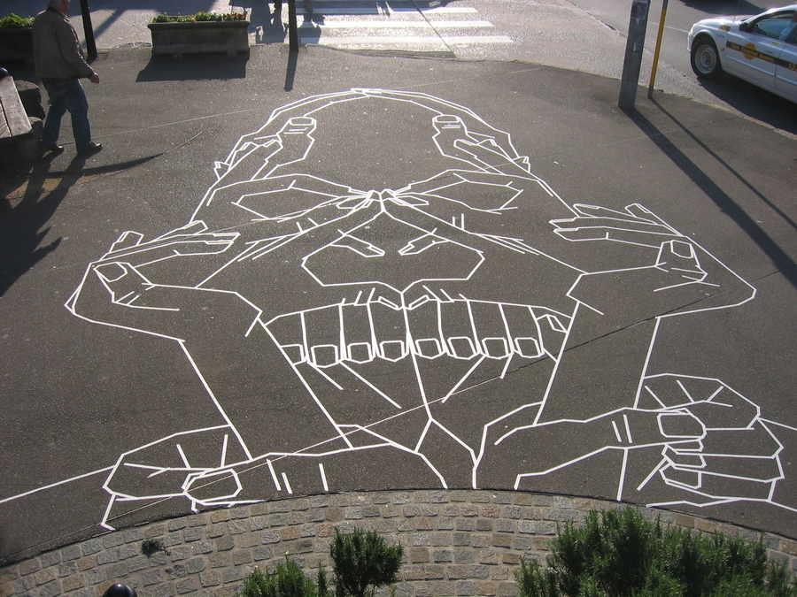 cinta adhesiva para street art