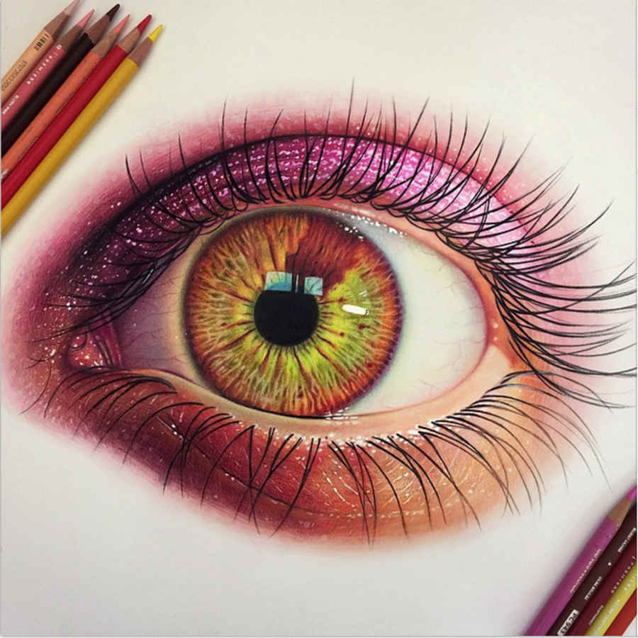 dibujo de un ojo