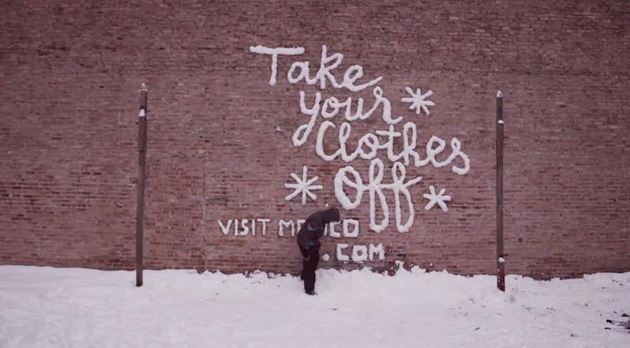 graffitis con nieve