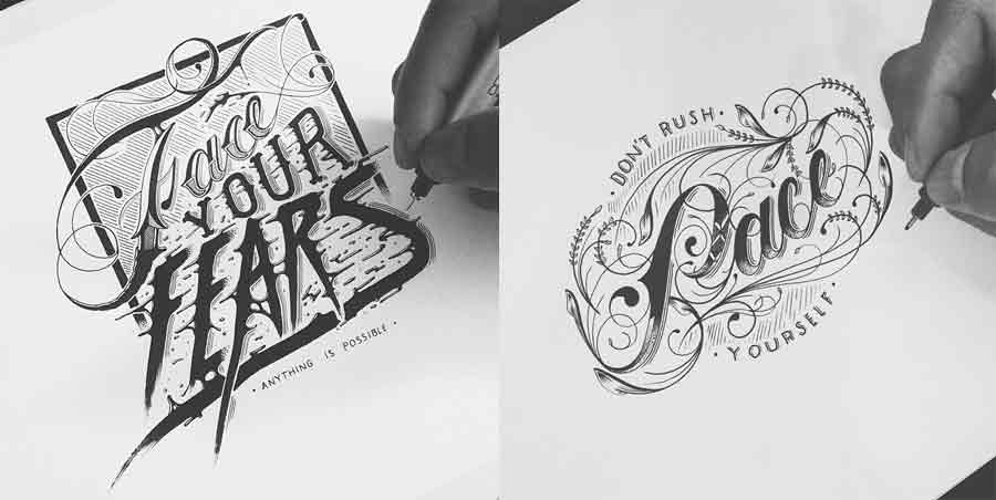 lettering en instagram