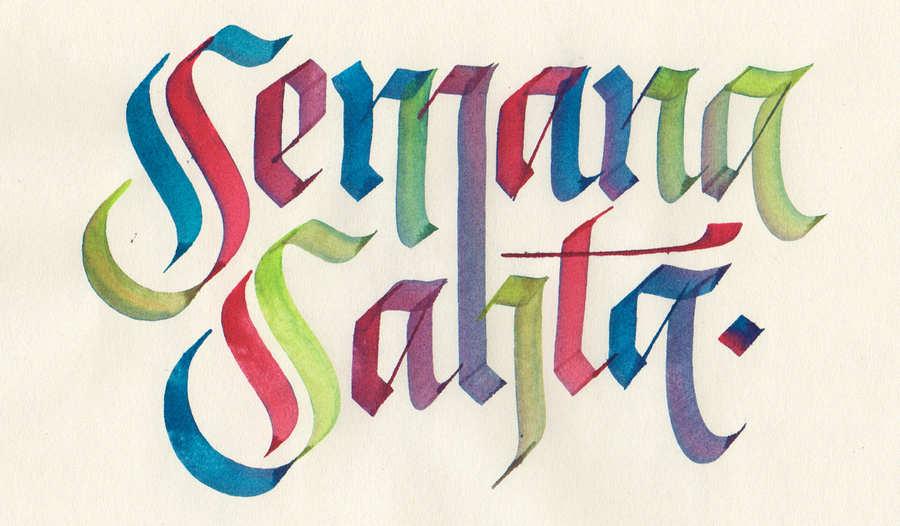 lettering Oscar Montoya