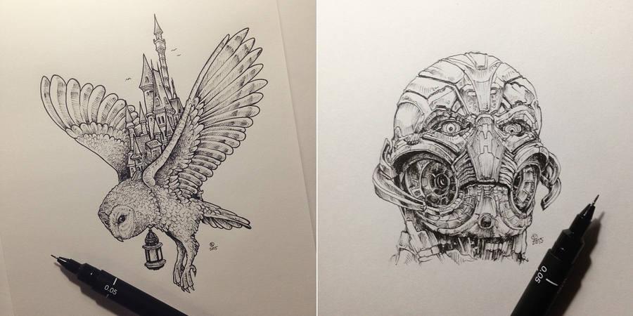 sketches de Kerby Rosanes