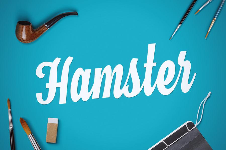tipografía hamster