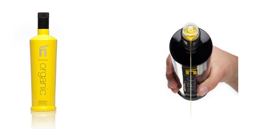 botellas para aceite de oliva orgánico