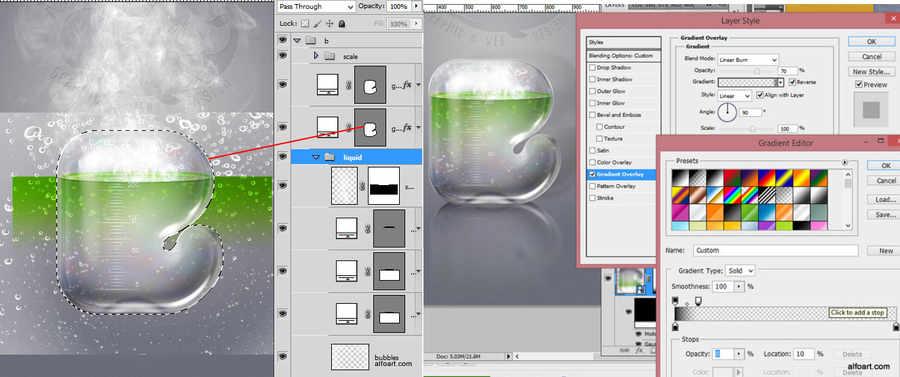 efecto cristal con photoshop