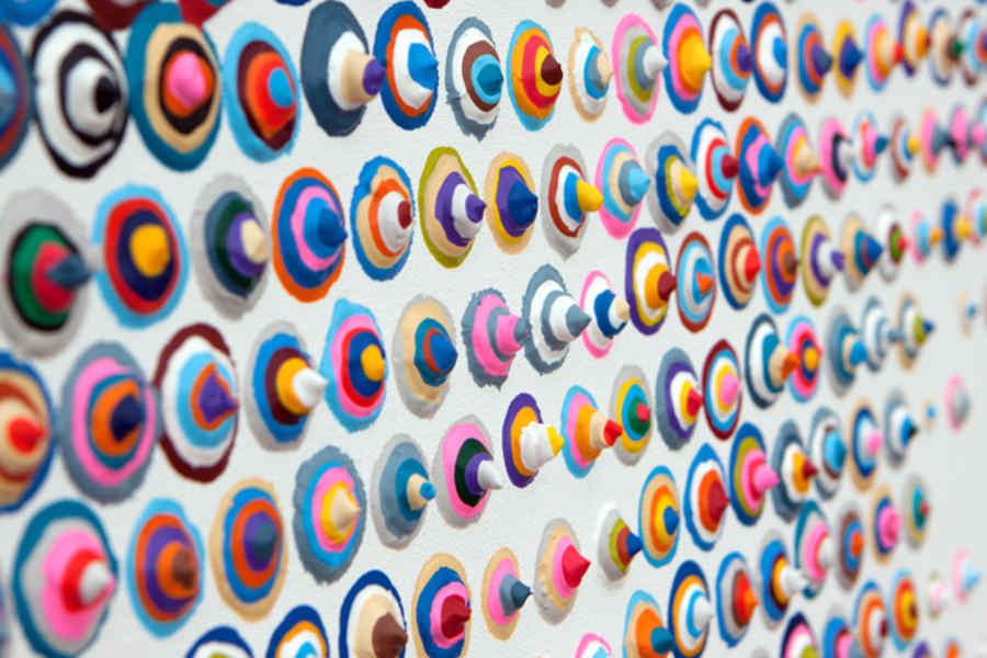 pinturas de círculos concéntricos