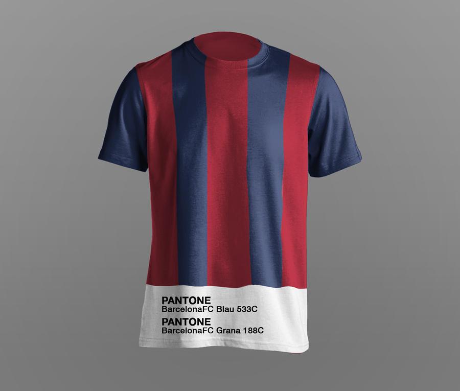 playeras fútbol pantone