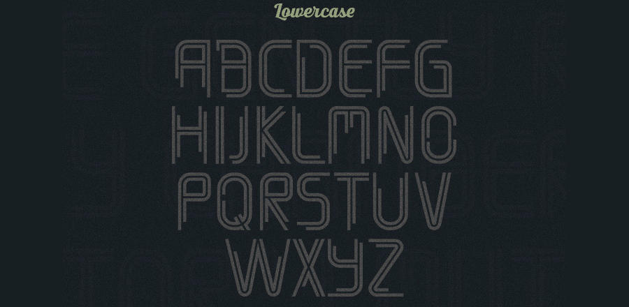 tipografía decorativa timber