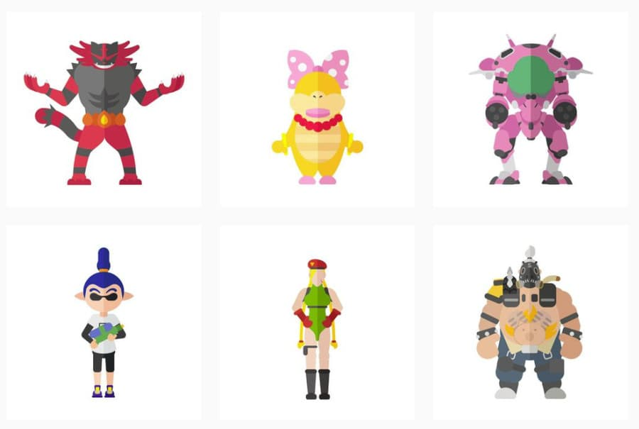 dibujos de personajes de videojuegos