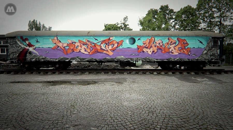 graffiti en vagón de tren